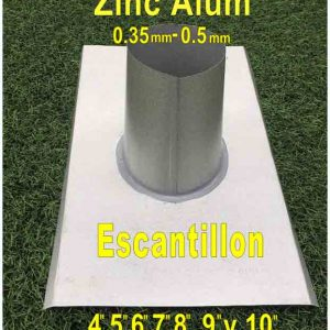 escantillon zinc tamaños